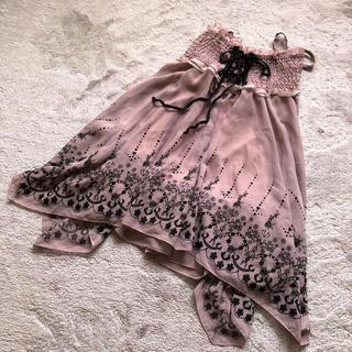 アロー(ARROW)の花柄スカート arw(ひざ丈スカート)