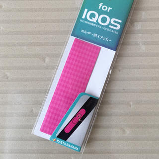 アイコス(IQOS)のアイコス ホルダー ステッカー  ダイヤ/ピンク(タバコグッズ)