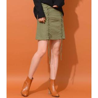 チャオパニック(Ciaopanic)のレースアップスカート(ミニスカート)