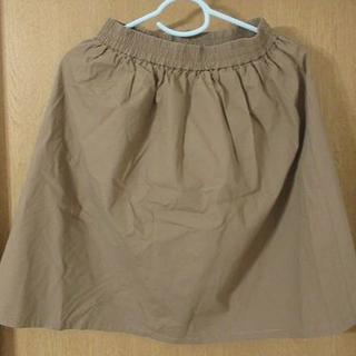 チャオパニック(Ciaopanic)のCiopanic 綿フレアースカート ベージュ(ひざ丈スカート)
