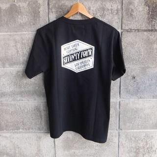 セブンティーフォー(SEVENTY FOUR)の19春夏.最新作●SEVENTY FOUR ロゴ Tシャツ 黒 新品 M(Tシャツ/カットソー(半袖/袖なし))