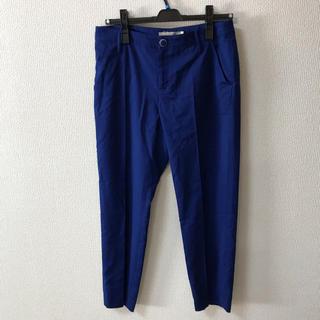 アウラアイラ(AULA AILA)のパンツ ブルー ズボン クロップドパンツ アウラアイラ 美品(クロップドパンツ)