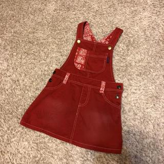 ディラッシュ(DILASH)のディラッシュ デニムスカート ジャンパースカート 100 110(ワンピース)
