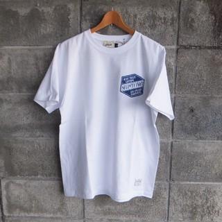 セブンティーフォー(SEVENTY FOUR)の19ss.最新作●セブンティーフォー  LOGO Tシャツ ホワイト 新品 L(Tシャツ/カットソー(半袖/袖なし))
