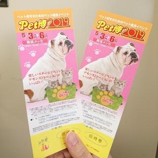 PET博 2019  幕張メッセ  招待券 1枚  Pet博(その他)