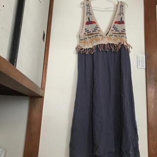 チチカカ(titicaca)のチチカカ 美品 スカート マキシワンピース フリーサイズ(ロングワンピース/マキシワンピース)