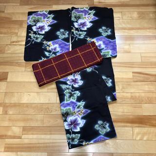 浴衣と半幅帯(浴衣)