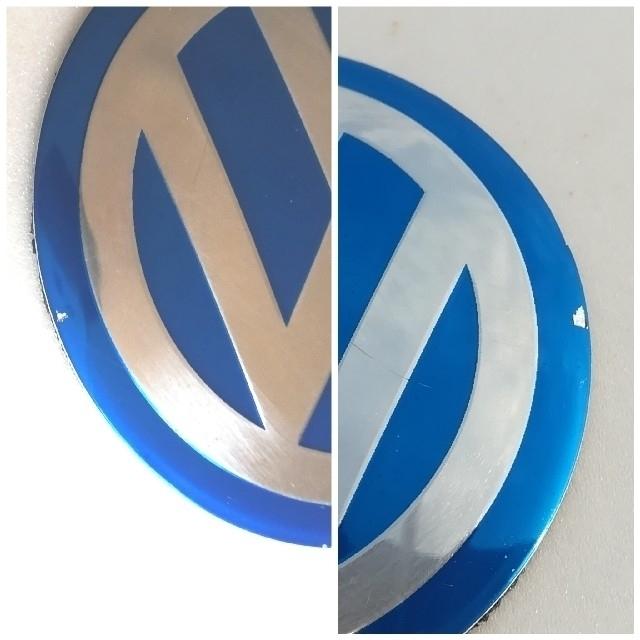Volkswagen(フォルクスワーゲン)のフォルクスワーゲン ホイールセンターキャップ用エンブレム 2個セット 自動車/バイクの自動車(車外アクセサリ)の商品写真