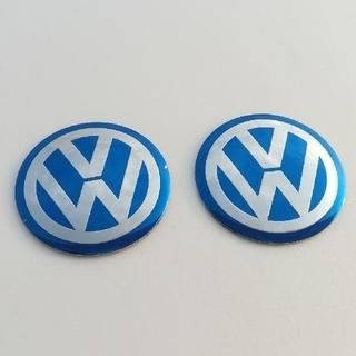 フォルクスワーゲン(Volkswagen)のフォルクスワーゲン ホイールセンターキャップ用エンブレム 2個セット(車外アクセサリ)
