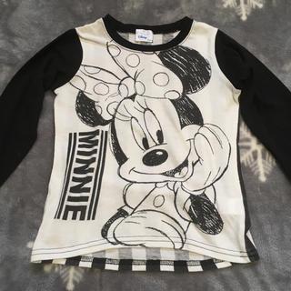 ディズニー(Disney)のミニーちゃん モノトーンカラー ロンT(Tシャツ/カットソー)