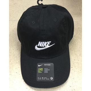 ナイキ(NIKE)のナイキ キッズキャップ 黒生地 新品 未使用 送料込 子供サイズ ジュニア(帽子)