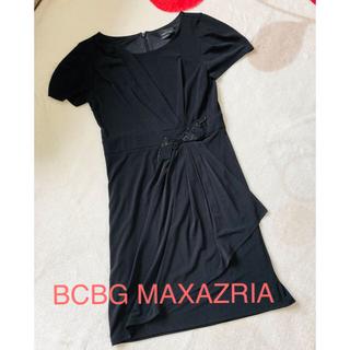 ビーシービージーマックスアズリア(BCBGMAXAZRIA)の再値下げ)BCBG MAXAZRIA ビジューワンピース(ひざ丈ワンピース)
