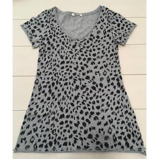 スパイラルガール(SPIRAL GIRL)のスパイラルガール・スパガ・ヒョウ柄・レオパ柄・半そで・半袖・Tシャツ・M(Tシャツ(半袖/袖なし))