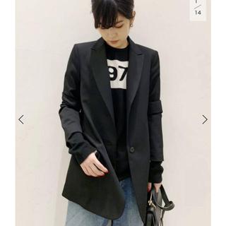 アパルトモンドゥーズィエムクラス(L'Appartement DEUXIEME CLASSE)の本日までの出品  APSTUDIO  BLACK Wool  JK  36(テーラードジャケット)