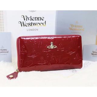 319e5c86af48 ヴィヴィアンウエストウッド(Vivienne Westwood)のヴィヴィアンウエストウッド 長財布 エナメル ワインレッド