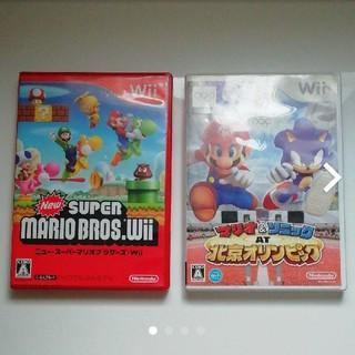 ウィー(Wii)のWii マリオ ソフト 2本セット(家庭用ゲームソフト)