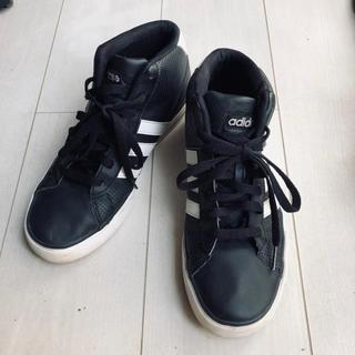 アディダス(adidas)のアディダス黒ハイカットスニーカー(スニーカー)