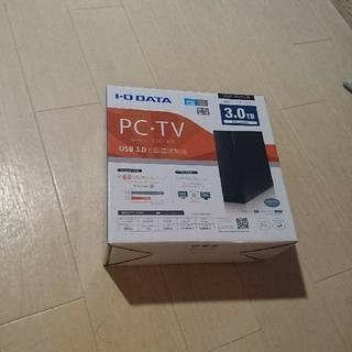 アイオーデータ(IODATA)のパソコン、テレビ用外付け ハードディスク 3テラ 新品(PC周辺機器)