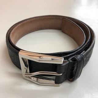 グッチ(Gucci)の正規品 グッチシマ メンズベルト 本革 ブラック c026(ベルト)