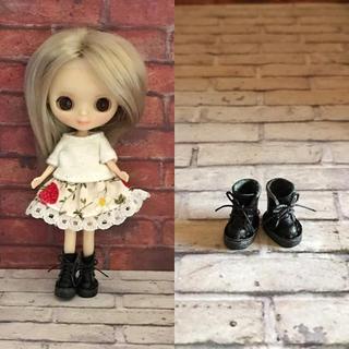 プチブライス  本革 ミニチュア靴 ブラック(ミニチュア)