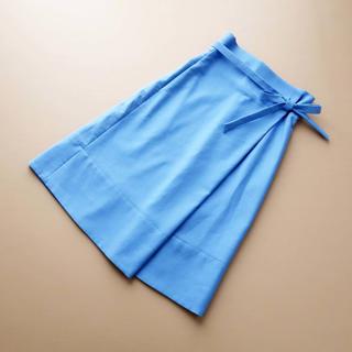 ドゥロワー(Drawer)の■ドゥロワー■ 36 ブルー 着やせスカート Drawer(ロングスカート)