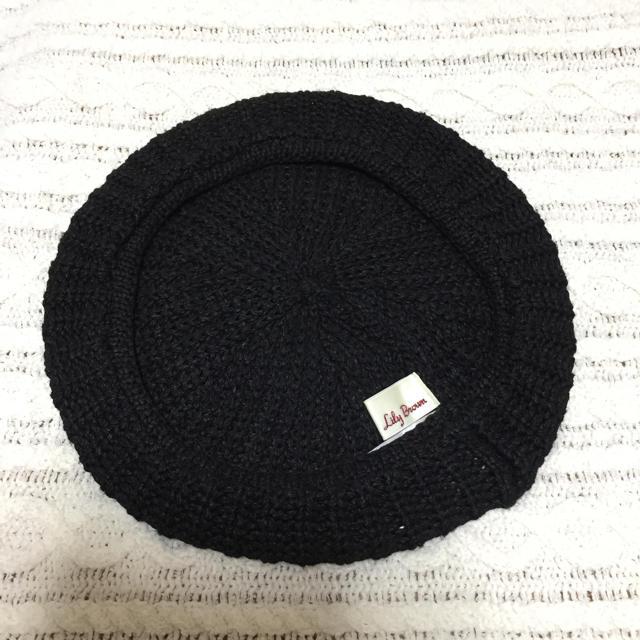 Lily Brown(リリーブラウン)の未使用🍀【Lily Brown】春夏ベレー帽/ブラック レディースの帽子(ハンチング/ベレー帽)の商品写真