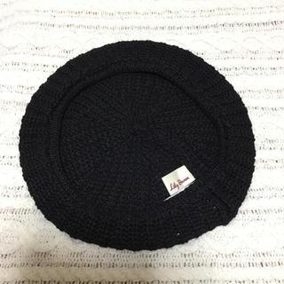 リリーブラウン(Lily Brown)の未使用🍀【Lily Brown】春夏ベレー帽/ブラック(ハンチング/ベレー帽)