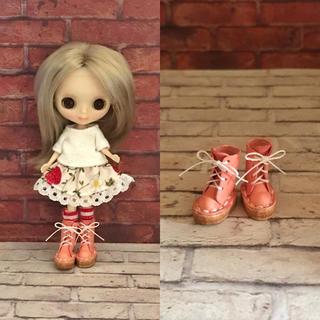 プチブライス♡ 本革 ミニチュア靴 ピンク(ミニチュア)