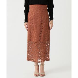 ノーブル(Noble)のNOBLE 2018SS ジャガードレースハイウエストスカート(ロングスカート)