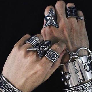 """クロムハーツ(Chrome Hearts)の美品 15号 cody sanderson ring """"BITCH STAMP""""(リング(指輪))"""
