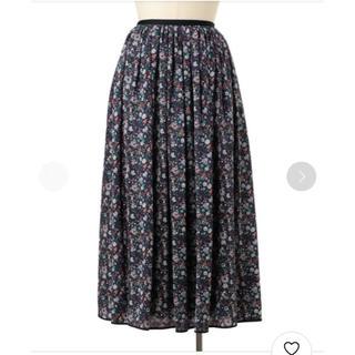 ドゥロワー(Drawer)の18aw ドゥロワー フラワープリント スカート(ロングスカート)