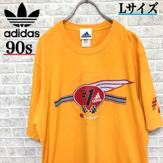 アディダス(adidas)の90s!Adidas アディダス 3stripes Tシャツ Lサイズ(Tシャツ/カットソー(半袖/袖なし))