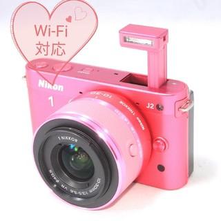 ニコン(Nikon)の◆Wi-Fi仕様◆極上品◆春に映える!キュートなピンクカラー◆ニコン 1 J2 (ミラーレス一眼)