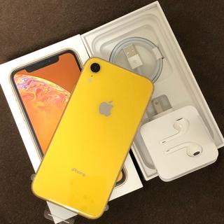 アイフォーン(iPhone)のiPhone Xr 64GB SoftBank 黄 yellow(スマートフォン本体)