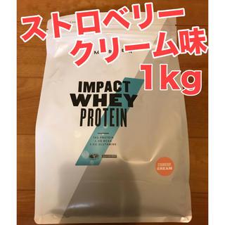 マイプロテイン(MYPROTEIN)のストロベリークリーム味 1kg ホエイプロテイン マイプロテイン(プロテイン)