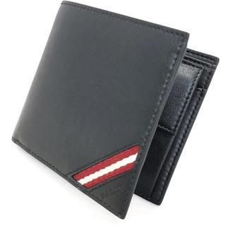 バリー(Bally)のBALLY バリー ストライプ 折り財布 ウォレット 6216392 黒(折り財布)