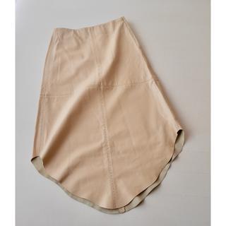 ダナキャランニューヨーク(DKNY)の新品◆49,000円+税 DKNY 高級 羊革 スカート(ロングスカート)