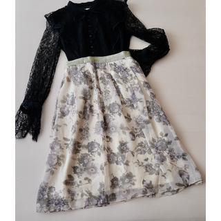 ラトータリテ(La TOTALITE)の新品◆1.9万円 ラ トータリテ 日本製 オーガンジー スカート(ひざ丈スカート)