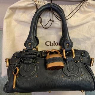 クロエ(Chloe)の美品chloe 約16万円 ダークグレー小型パディントン(ハンドバッグ)