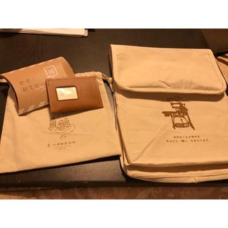 ツチヤカバンセイゾウジョ(土屋鞄製造所)の土屋鞄 ノベルティ 巾着袋 革封筒 レターセット(ノベルティグッズ)