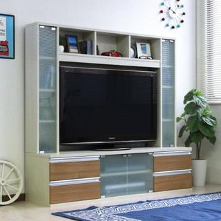 高品質!ゲート型 150cm幅 テレビ台 ハイタイプ 壁面収納 50インチ対応(リビング収納)