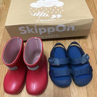 Skippon赤13センチ・igorブルー12.5センチ 2点セット(サンダル)