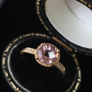アッシュペーフランス(H.P.FRANCE)のtatsuo nagahata ピンク トルマリン ダイヤ リング 指輪(リング(指輪))