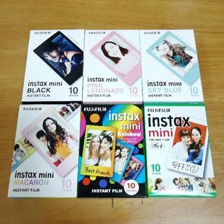 フジフイルム(富士フイルム)のinstax mini film チェキ ミニ 単色柄 フィルム 60枚(フィルムカメラ)