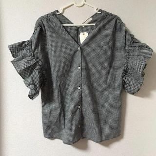 未使用☆chocol raffine robe チェックのブラウス