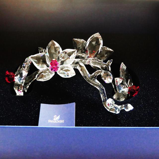 SWAROVSKI(スワロフスキー)のお値引きしました!スワロフスキー クリスタル ランの花  「オーキッド」 インテリア/住まい/日用品のインテリア小物(置物)の商品写真