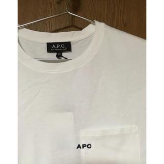 アーペーセー(A.P.C)の新品 APC A.P.C. ロゴ刺繍 ポケット Tシャツ XSサイズ(Tシャツ/カットソー(半袖/袖なし))