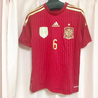 アディダス(adidas)のイニエスタ スペイン代表 6 ユニフォーム 2010 ワールドカップ優勝記念(記念品/関連グッズ)