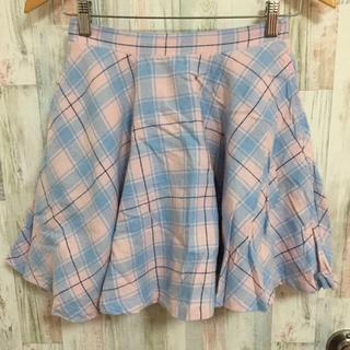 ウィゴー(WEGO)のウィゴー ピンク 水色 チェック柄 スカート(ミニスカート)