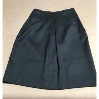 ニジュウサンク(23区)の23区 小さいサイズ 30 ★ フレアースカート 黒ひざ丈(ひざ丈スカート)